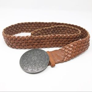 American Eagle Braided Brown Leather Belt